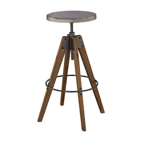 Guildmaster GUI-3187-002 Rolfe Collection Natural Woodtone,Tin Finish Stool