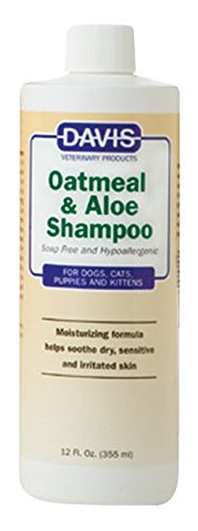 Davis 18570 Davis Oatmeal & Aloe Shampoo, 12 oz - Peazz Pet