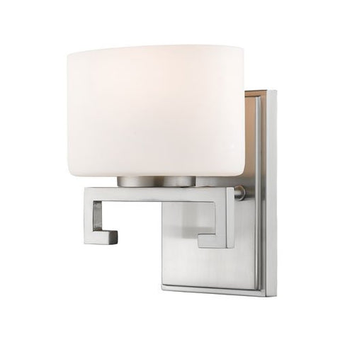 1-Light Steel Vanity in Brushed Nickel Finish