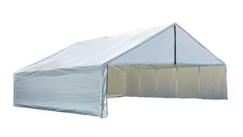 ShelterLogic 27776 Ultra Max 30 ft. x 40 ft. White Industrial Canopy Enclosure Kit Fits 2 3/8 in. Frame - Peazz.com