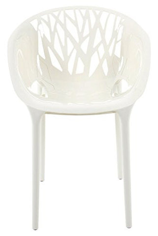 Mochi Furniture Modern Polycarbonate Accent Chair - White (Set of 4)