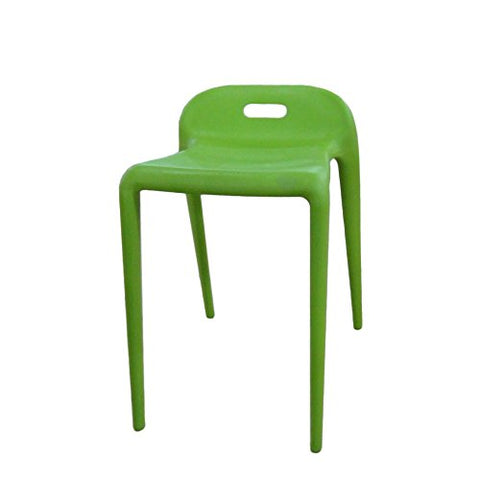 Mod Made MM-PC-085-GREEN E-Z Modern Stacking Stool Chair 2-Pack
