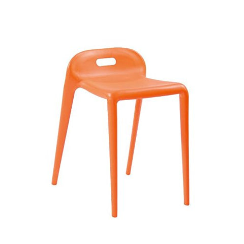 Mod Made MM-PC-085-ORANGE E-Z Modern Stacking Stool Chair 2-Pack