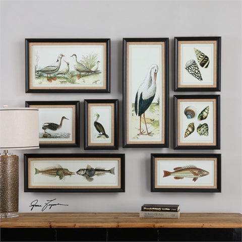 Uttermost Seashore Collage Prints, S/8 (33631) - UTMDirect