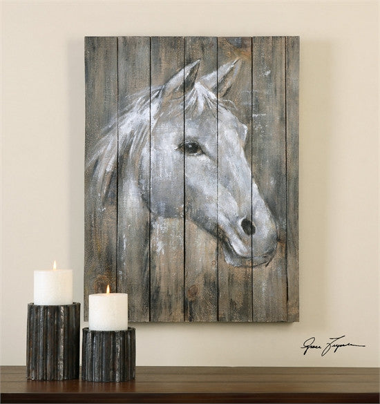 Uttermost Dreamhorse Hand Painted Art (35312)