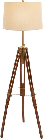 Benzara 38355 Unique Lamps Wood Metal Tripod Floor Lamp