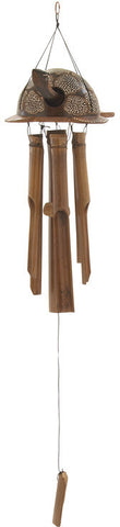 "Bayden Hill Bamboo Windchime 8""W, 34""H - Peazz.com"
