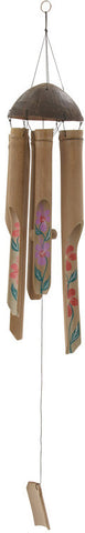 "Bayden Hill Bamboo Windchime 5""W, 38""H - Peazz.com"