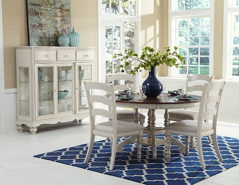 Hillsdale Furniture 5265DTBCL Pine Island 5PC Round Dining Set with Ladder Back Chairs