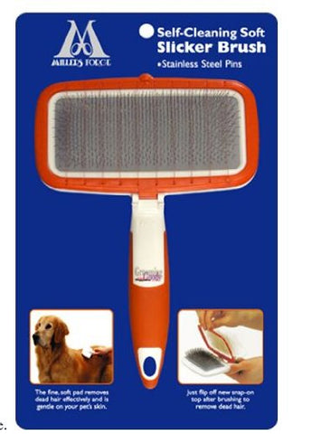 Self-Cleaning Soft Slicker Brush For Medium and Large Dogs - Peazz Pet