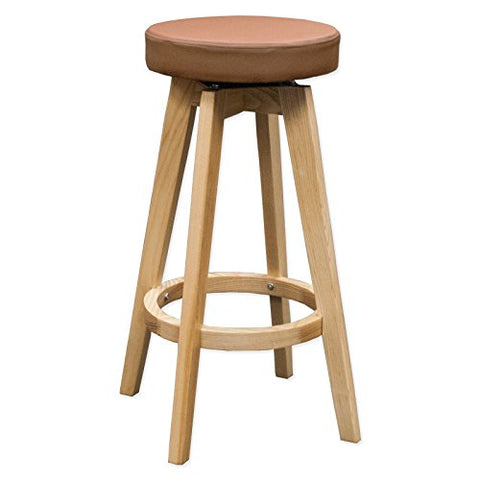Mod Made MM-WS-096A-BROWN Rex Wood Counter Stool