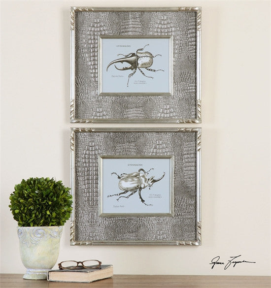 Uttermost Bug Study Framed Art, S/2 (41528)