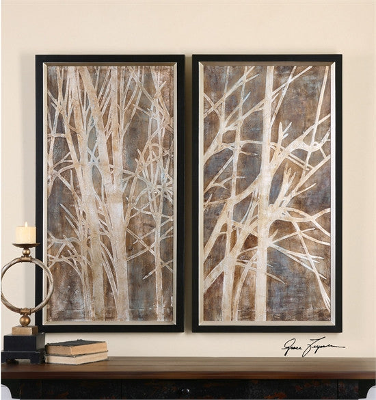 Uttermost Twigs Hand Painted Art, S/2 (41543)