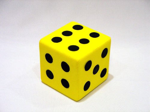 Everrich EVM-0015 3.25 Inch Foam Dice with Dots Everrich EVM-0015 3.25 Inch Foam Dice with Dots