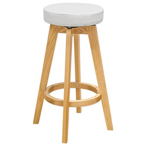 Mod Made MM-WS-096A-WHITE Rex Wood Counter Stool