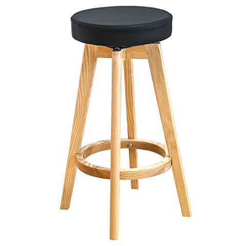Mod Made MM-WS-096A-BLACK Rex Wood Counter Stool