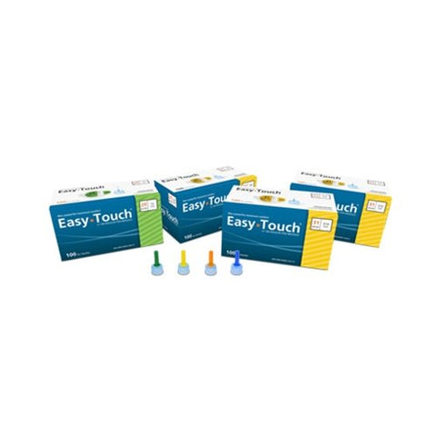 Pen Needles 31ga X 1/4 EASYTOUCH BX100 YELLOW - Peazz Pet