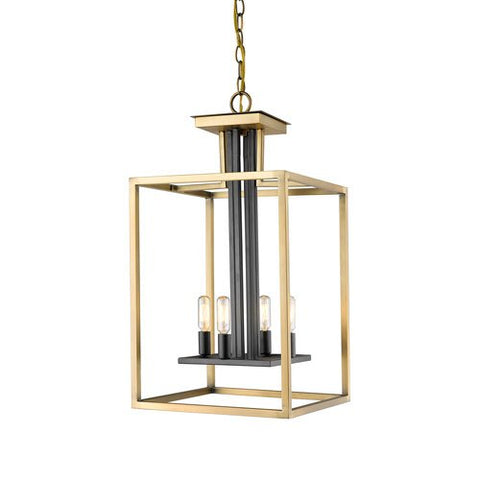 4-Light Chandelier in Olde Brass and Bronze Finish
