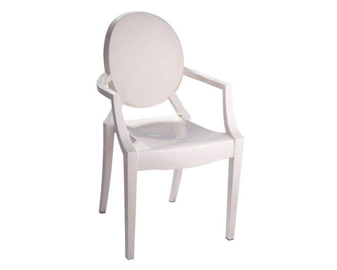 Mod Made MM-PC-099-IVORY Louie Arm Chair