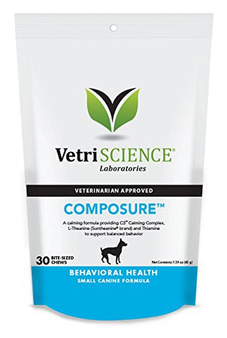 Composure Mini Bite-Sized Chews For Small Dogs, 30 Chews (MD-16740) - Peazz Pet