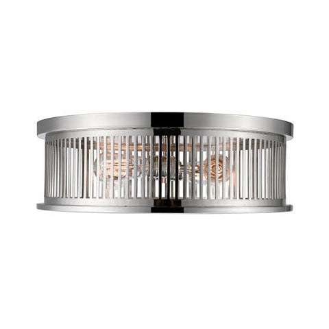 4-Light Flush Mount in Polished Nickel Finish