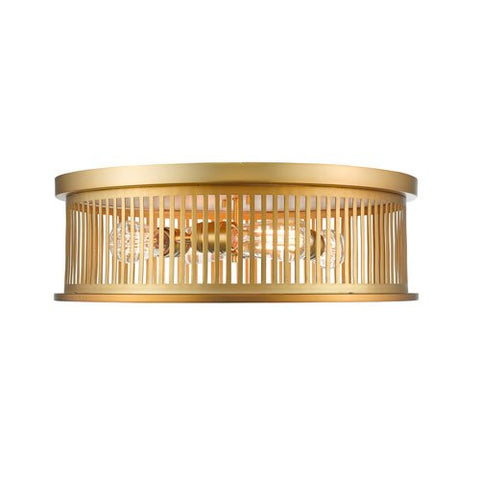 4-Light Flush Mount in Brass Finish
