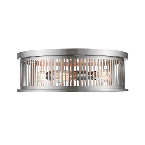 4-Light Flush Mount in Brushed Nickel Finish