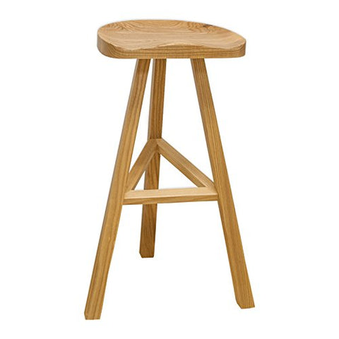Mod Made MM-WS-034A-NATURAL Hemi Wood Barstool