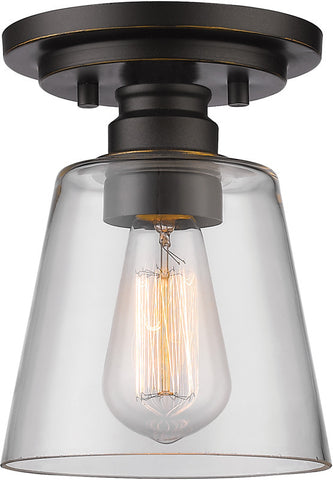 Z-Lite 428F1-OB 1 Light Flush Mount Annora Collection Clear Finish - ZLiteStore
