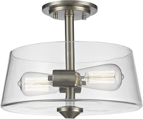 Z-Lite 428SF2-BN 2 Light Semi Flush Mount Annora Collection Clear Finish - ZLiteStore