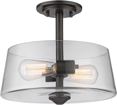 Z-Lite 428SF2-OB 2 Light Semi Flush Mount Annora Collection Clear Finish - ZLiteStore