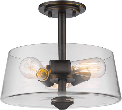 Z-Lite 428SF3-OB 3 Light Semi Flush Mount Annora Collection Clear Finish - ZLiteStore