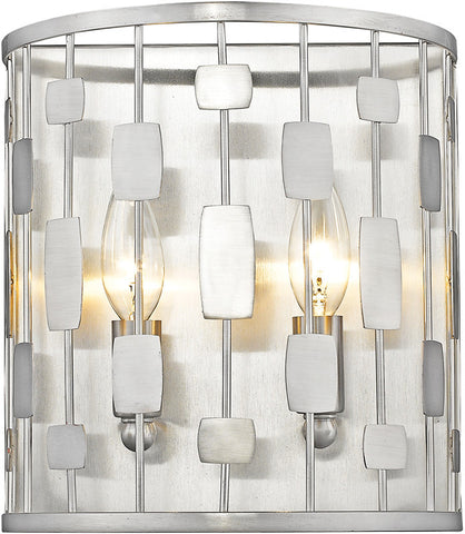 Z-Lite 430-2S-BN 2 Light Wall Sconce Almet Collection Clear Finish - ZLiteStore