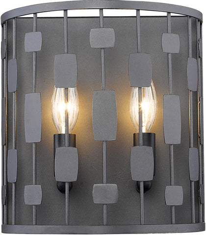 Z-Lite 430-2S-BRZ 2 Light Wall Sconce Almet Collection Clear Finish - ZLiteStore