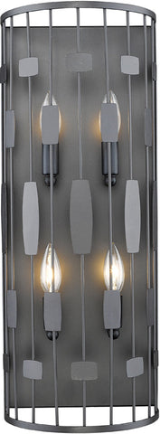 Z-Lite 430-4S-BRZ 4 Light Wall Sconce Almet Collection Clear Finish - ZLiteStore