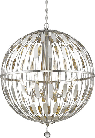 Z-Lite 430B30-BN 8 Light Pendant Almet Collection Clear Finish - ZLiteStore