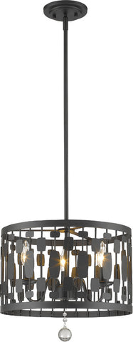 Z-Lite 430D15-BRZ 3 Light Pendant Almet Collection Clear Finish - ZLiteStore