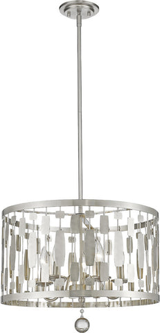 Z-Lite 430D20-BN 5 Light Pendant Almet Collection Clear Finish - ZLiteStore