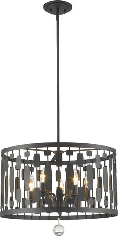 Z-Lite 430D20-BRZ 5 Light Pendant Almet Collection Clear Finish - ZLiteStore