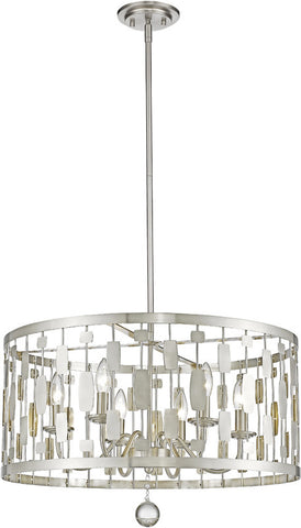 Z-Lite 430D24-BN 6 Light Pendant Almet Collection Clear Finish - ZLiteStore