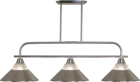 Z-Lite 437-3BN-RBN 3 Light Island/Billiard Light Annora Collection Clear Ribbed Glass & Brushed Nickel Finish - ZLiteStore