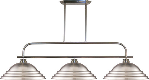 Z-Lite 437-3BN-SBN 3 Light Island/Billiard Light Annora Collection Stepped Brushed Nickel Finish - ZLiteStore