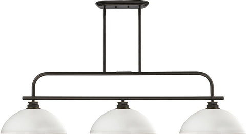 Z-Lite 437-3OB-DMO14 3 Light Island/Billiard Light Annora Collection Dome Matte Opal Finish - ZLiteStore