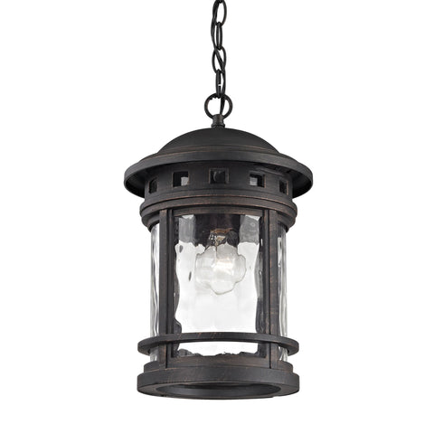 ELK Lighting 45113/1 Costa Mesa Collection Weathered Charcoal Finish - PeazzLighting