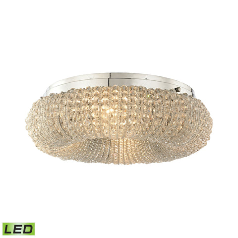 ELK Lighting 45290/4-LED Crystal Ring Collection Polished Chrome Finish - PeazzLighting