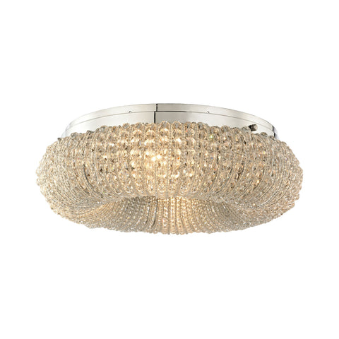 ELK Lighting 45290/4 Crystal Ring Collection Polished Chrome Finish - PeazzLighting