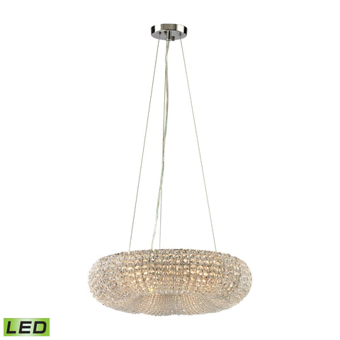 ELK Lighting 45291/6-LED Crystal Ring Collection Polished Chrome Finish - PeazzLighting