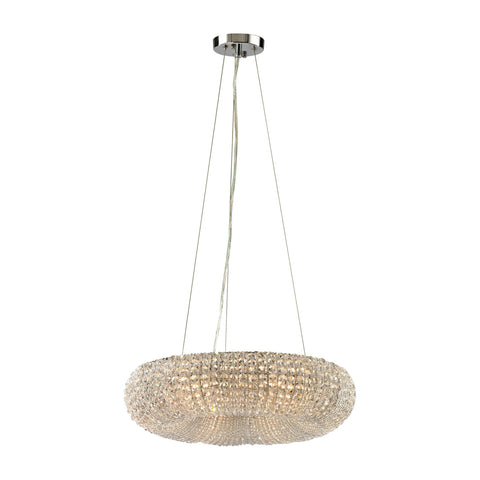 ELK Lighting 45291/6 Crystal Ring Collection Polished Chrome Finish - PeazzLighting