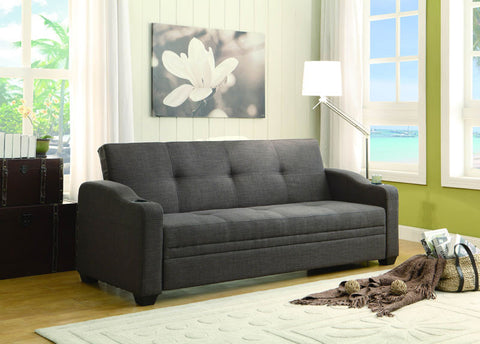 Homelegance 4829LN Caffery Collection Color Dark Grey Fabric - Peazz.com - 1