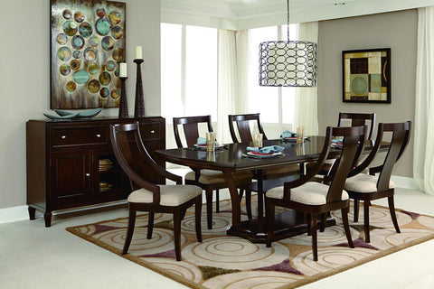 Homelegance 5115A Aubriella Collection Color Rich Brown Cherry / Neutral Tone Fabric (Set of 2) - Peazz.com